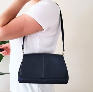 Vintage navy blue mini shoulder bag